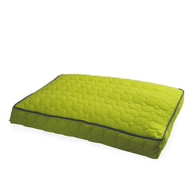Circle Quilted Pillow Dog Bed Size: Medium - 36 L x 27 W, Color: Lime