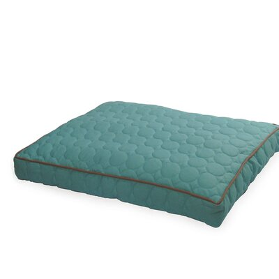 Circle Quilted Pillow Dog Bed Size: Large - 42 L x 29 W, Color: Turquoise