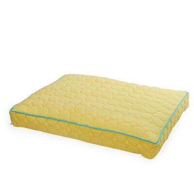 Circle Quilted Pillow Dog Bed Size: Large - 42 L x 29 W, Color: Pale Yellow