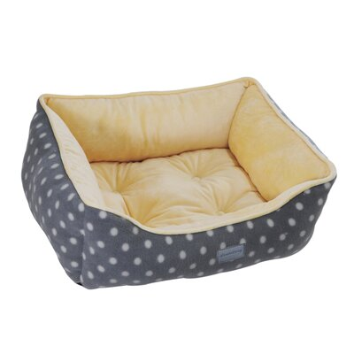 Drowzzzy Polka Dots Couch Bed Size: Small (22 L x 18 W), Color: Grey