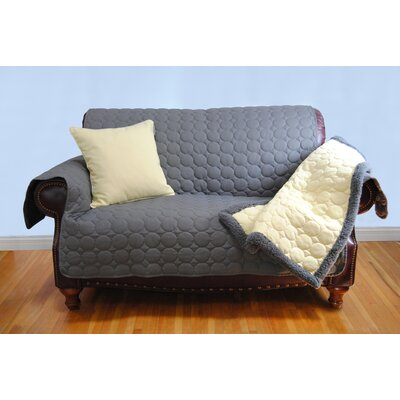 Circle Water Repellent Quilted Sofa Protector Upholstery: Gray