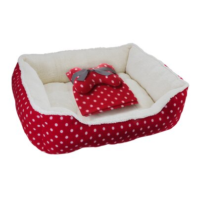 Drowzzzy 3 Piece Polka Dots Gift Set Size: Medium (26 L x 22 W)