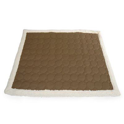 Circle Quilted Cotton Throw Size: Large (1H x 57W x 50L), Color: Brown