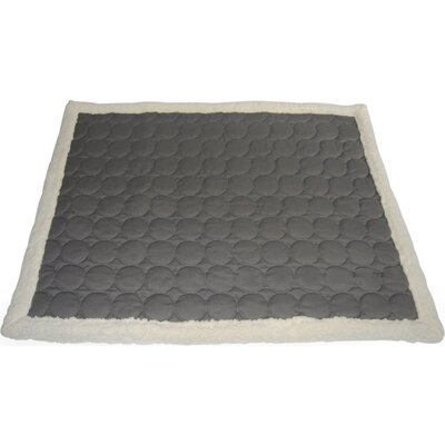 Circle Quilted Cotton Throw Color: Gray, Size: X-Large (1H x 70W x 57)