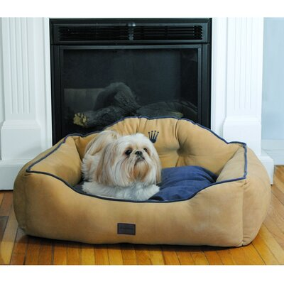 Courtier Royal Couch Dog Bed Size: Small (22 L x 19 W), Color: Khaki