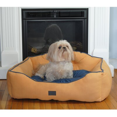 Courtier Royal Couch Dog Bed Color: Yellow, Size: Small (22 L x 19 W)