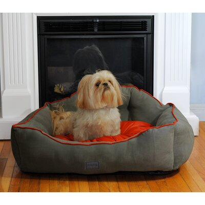 Courtier Royal Couch Dog Bed Color: Gray, Size: Small (22 L x 19 W)