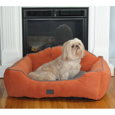 Courtier Royal Couch Dog Bed Color: Tangerine, Size: Small (22 L x 19 W)