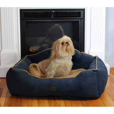 Courtier Royal Couch Dog Bed Color: Navy, Size: Small (22 L x 19 W)