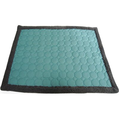 Circle Quilted Cotton Throw Size: Medium (1H x 40 W x 29L), Color: Turquoise