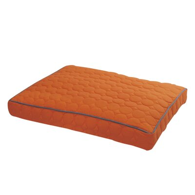 Circle Quilted Pillow Dog Bed Size: Large - 42 L x 29 W, Color: Tangerine