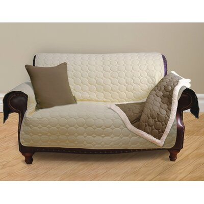 Circle Water Repellent Quilted Sofa Protector Upholstery: Pale Yellow