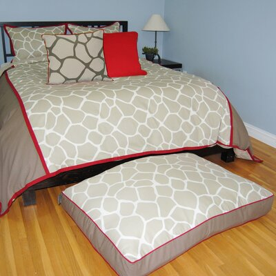 Giraffe 3 Piece Duvet Set Size: Full / Queen, Color: Khaki