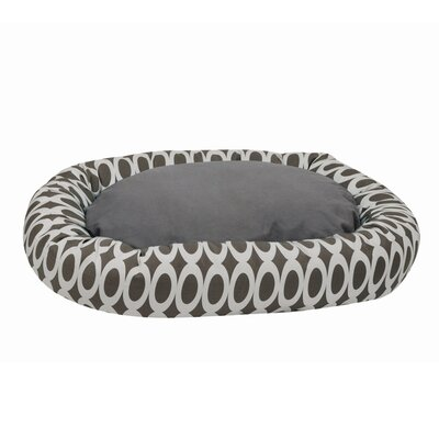 Orbits Reversible Donut Bolster Bed Size: Medium (33 L x 26 W), Color: Gray