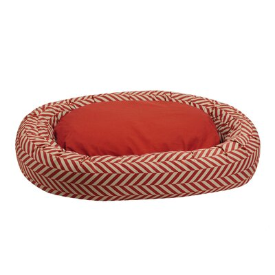 Herringbone Reversible Donut Bolster Bed Size: Medium (33 L x 26 W), Color: Rust