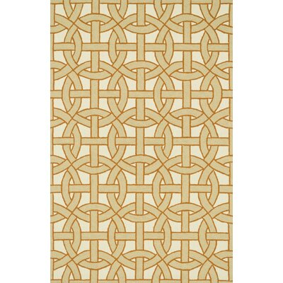 Palm Springs Hand-Hooked Beige/Orange Indoor/Outdoor Area Rug Rug Size: 5 x 76