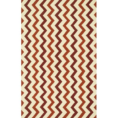 Palm Springs Hand-Hooked Red/Rust Indoor/Outdoor Area Rug Rug Size: Rectangle 5 x 76