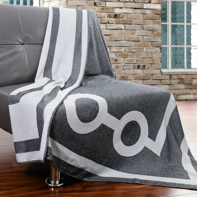 Tea House Throw Color: Townhouse Grey 6101-906