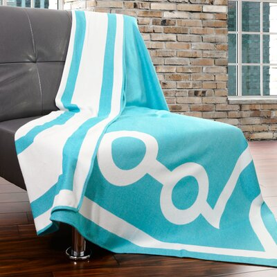 Tea House Throw Color: Azure