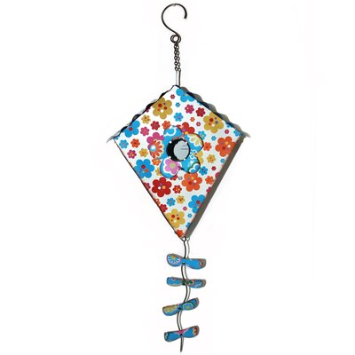 Floral Kite-Shaped Birdhouse