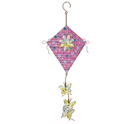 Metal Kite with Daisy Sculpture