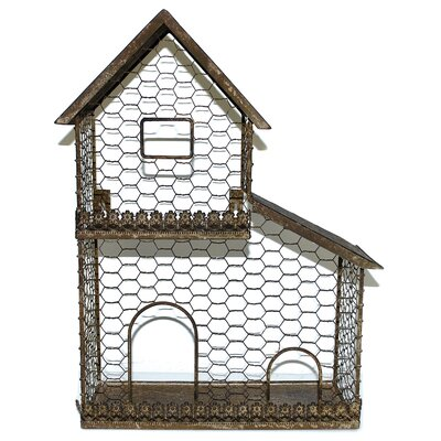 Bird House Steel Terrarium (Set of 2)