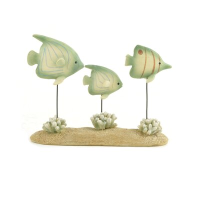 Fish Trio with Coral Figurine 124-85287