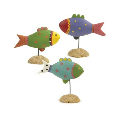 Juston 3 Piece Tropical Fish Figurine Set HBEE7973 42963564