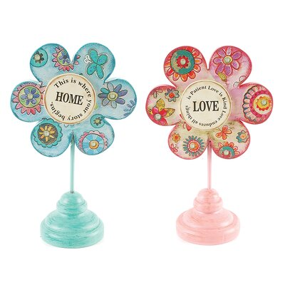 2 Piece Decorative Love/Home Tabletop Flowers Set 151-71437
