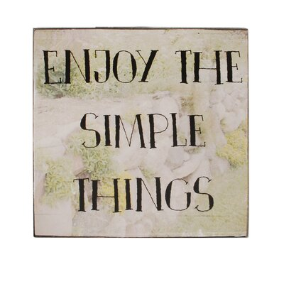 Simple Things Box Sign Wall Art Set Of 4 image