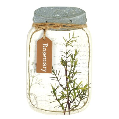 'Rosemary' Jar Sign Wall Décor