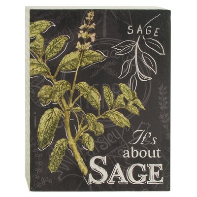 'Sage' Box Sign Wall Décor