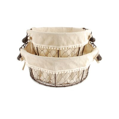 2 Piece Round Mesh Basket Set
