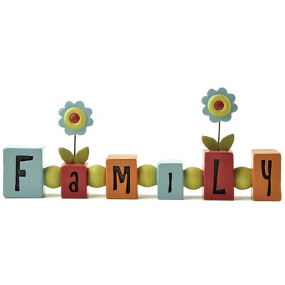 Family Bead with Flowers Letter Block 161-10351