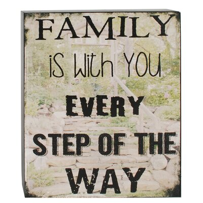 Family is with You Box Sign by Barbara Lloyd Textual Art 1588-37339