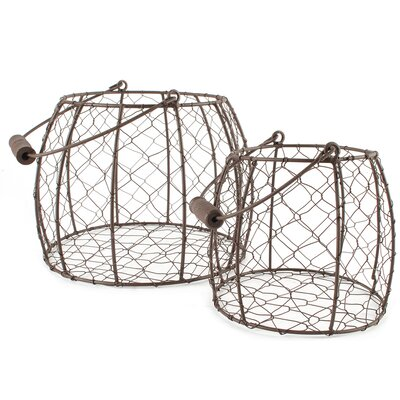 2 Piece Mesh Basket Set