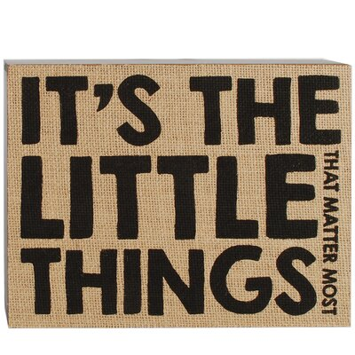 It's The Little Things Box Sign by Barbara Lloyd Textual Art 1588-37320