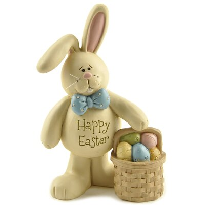 Happy Easter Bunny With Baskets And Eggs Figurine