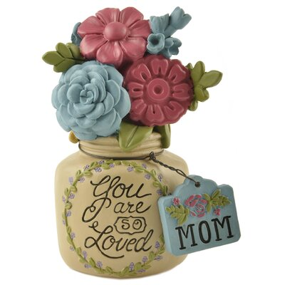 So Loved with Flower and Mom Jar Figurine 171-11174
