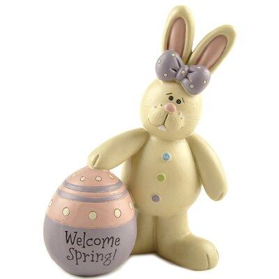 Girl Bunny with Easter Egg Figurine 171-11088