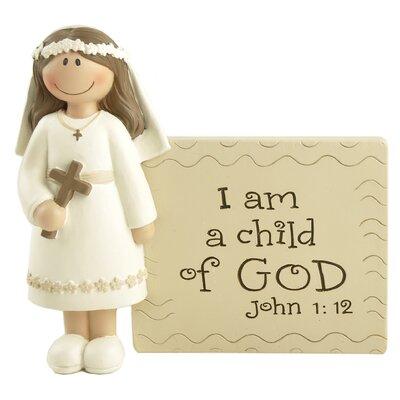 Communion Plaque with Girl Figurine 171-11113