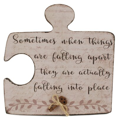 When Things Fall Apart Puzzle Plaque 171-38067