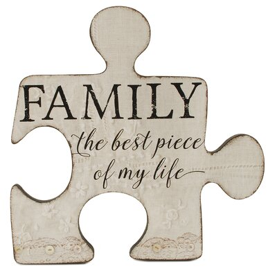 Family Piece Puzzle Decorative Plaque 171-38070