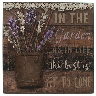 In The Garden By Barbara Lloyd Textual Art On Wood