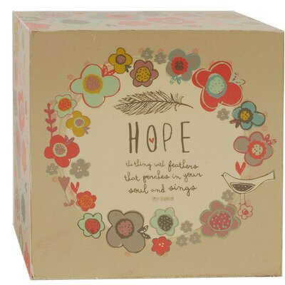 Hope Floral And Feather Decorative Box