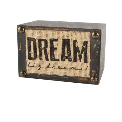 Dream Big Wooden Decorative Plaque