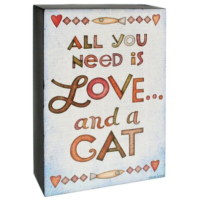 Love and a Cat Decorative Plaque