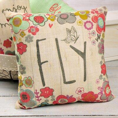 Bayard Fly Floral Throw Pillow