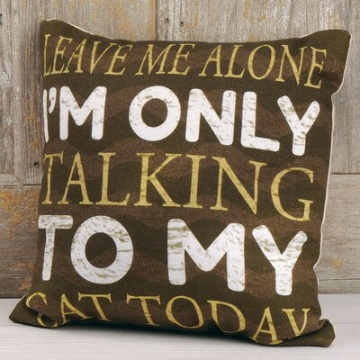 Bettye Talking to Cat Throw Pillow
