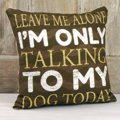 Barbra Talking to Dog Throw Pillow